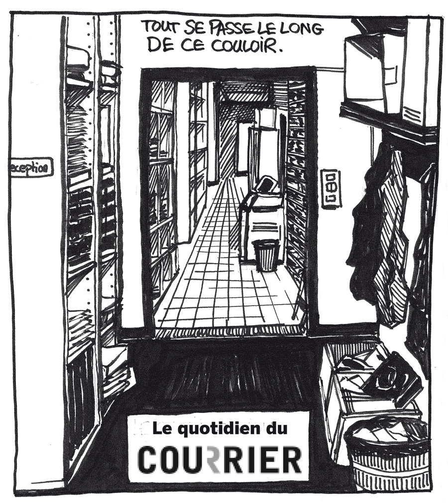 La rédaction du Courrier (Illustration : Eric Lecoultre)